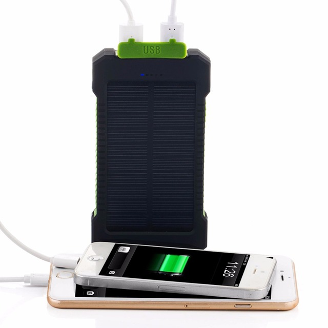 10000mAh External Battery Pack Solar Power Bank Double USB Fast Charging Powerbank Phone Charger For Smart Mobile Phone 6