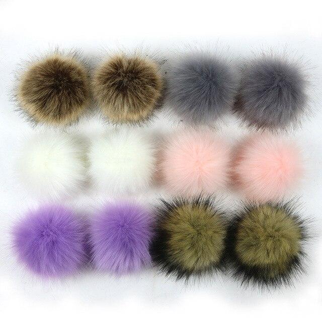 15 centímetros DIY Faux Fox Fur Pompom Fofo Bola Handmade Artificial Grande Pompom De Pele para Cap Keychain Bag Decoração Acessório atacado