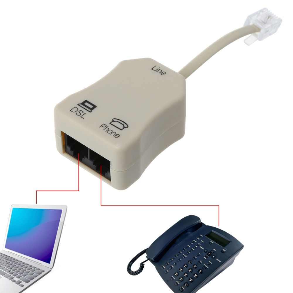 1 adet Taşınabilir ADSL Modem Telefon Telefon Faks In-Line Splitter Filtre Ağ telefon Ayırıcılar C26