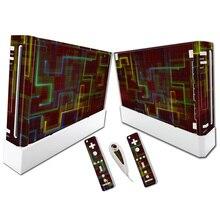 Прямая, Виниловая наклейка для видео игр, кожная наклейка, чехол для консоли системы nintendo wii