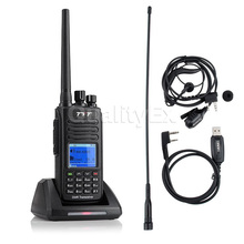 UHF 400-480 mhz TYT MD-390 DMR IP67 A Prueba de agua Digital de Dos Vías Walkie Talkie de Radio 1000CH 2200 mAh MD390 con Cable de Programación CD