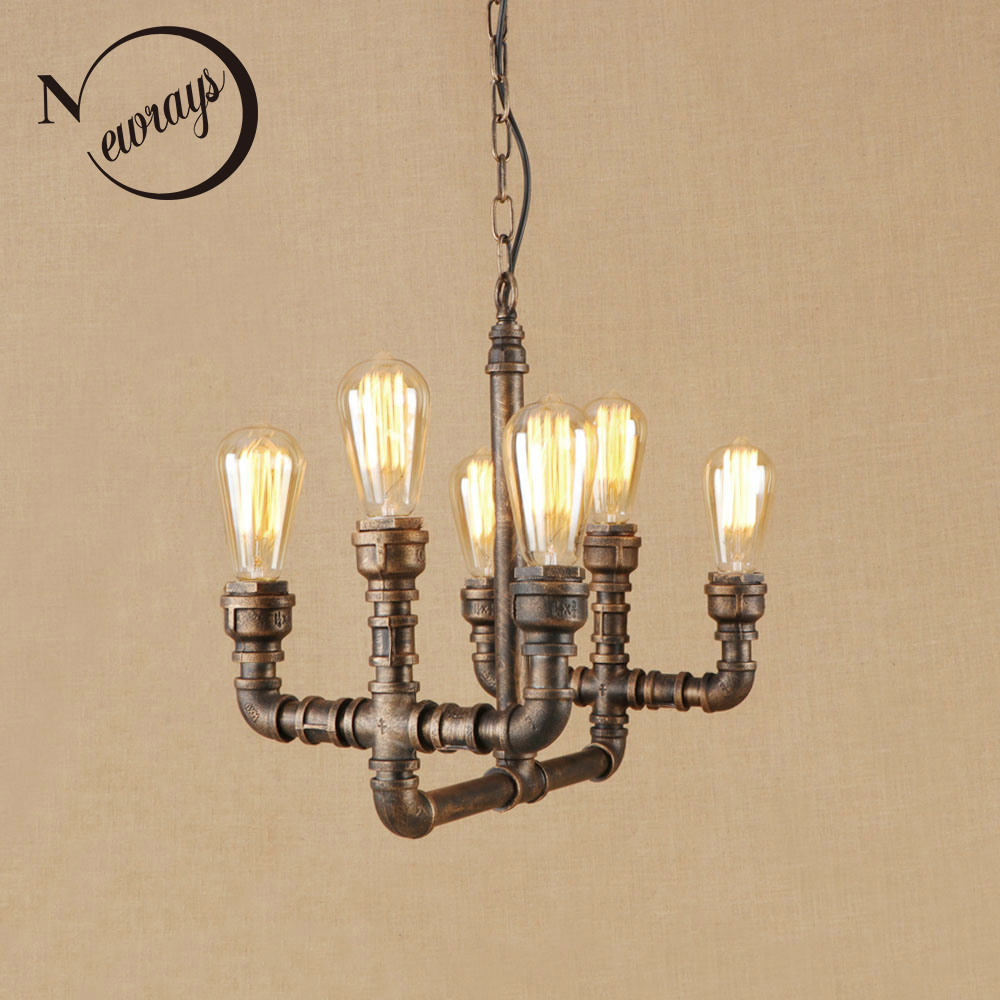 Vintage country iron pendant light E27 LED industrial art deco hanging lamp for kitchen living room hotel restaurant dining room loft hanging lamps industrial living room kitchen restaurant cafe dining room aisle study bar iron chandelier pendant lamp light