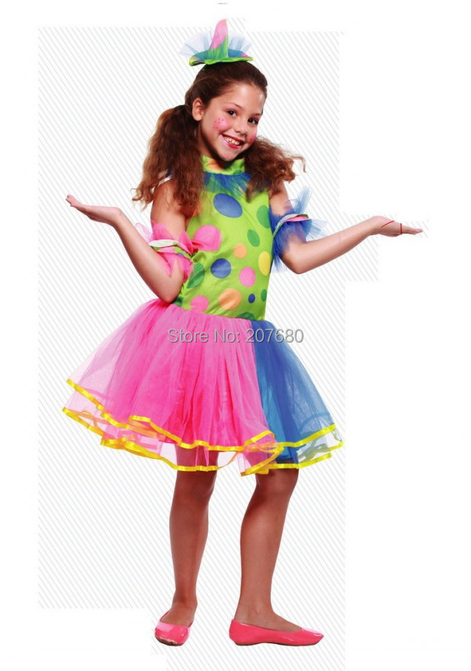 Girl clown dress Joker  Wear Stage Performance clothes for girl Kids Cosplay costume