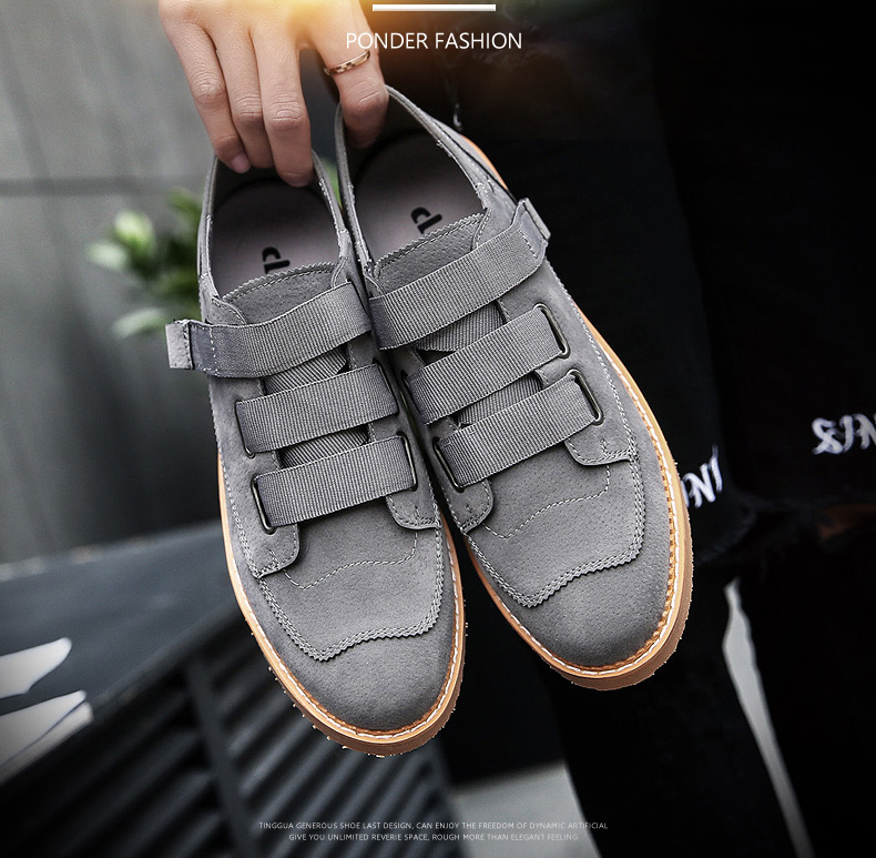 bd23dab84 Ramialali Men's Casual Shoes New Style Fashion Trend Leather Men ...