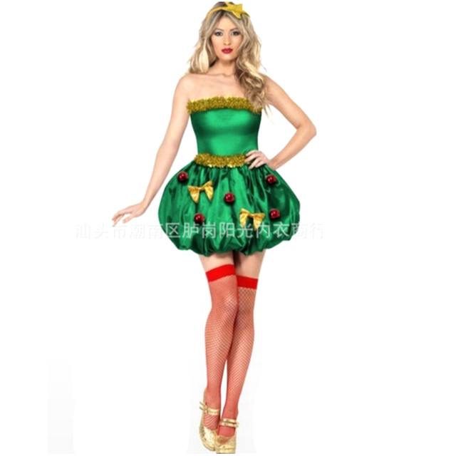 christmas tree costume for women sexy adult costumes christmas dress woman father christmas suit disfraces adultos
