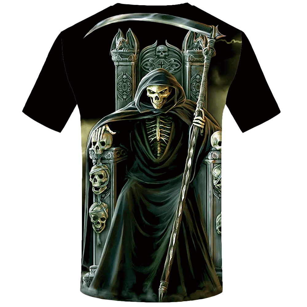 Skull T-Shirt Men Grim Reaper 3