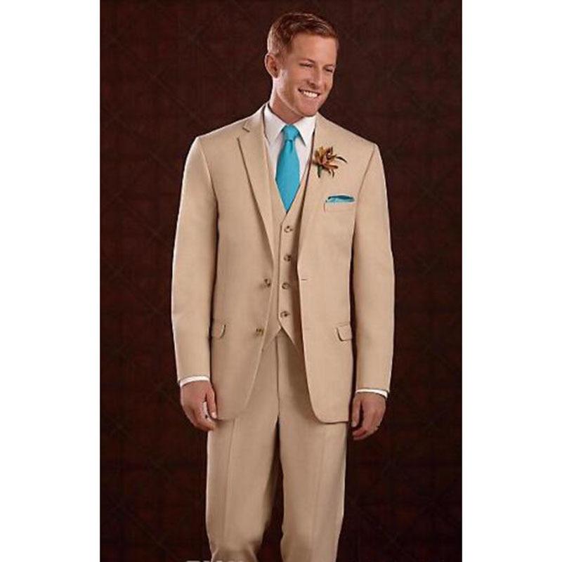 Senior deux boutons pointus kaki marié robe de mariage homme costumes d'affaires hommes costume 2018 décontracté kaki robe hommes costumes