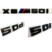 Auto Sticker Styling ABS Materiaal Brandstof Uitstoot voor BMW E46 M50d X3 X4 X5 X6 E46 E30 E28 E90 E60 e39 E36 F30 Auto Accessoires(China)
