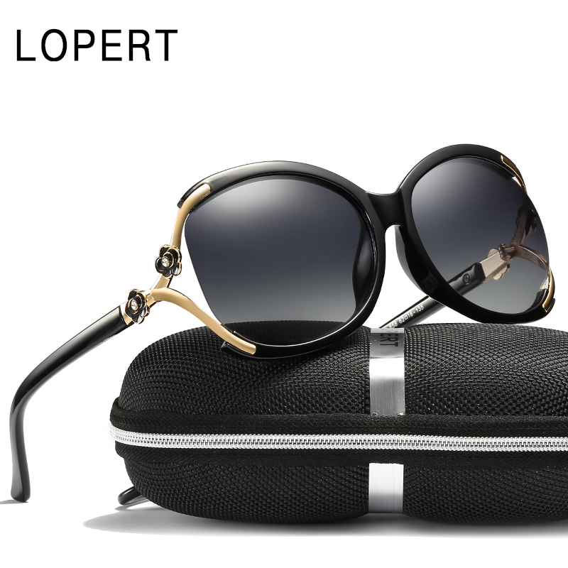 LOPERT Cat Eye Polarized Sunglasses Women Fashion Glasse Brand - Apparel Accessories