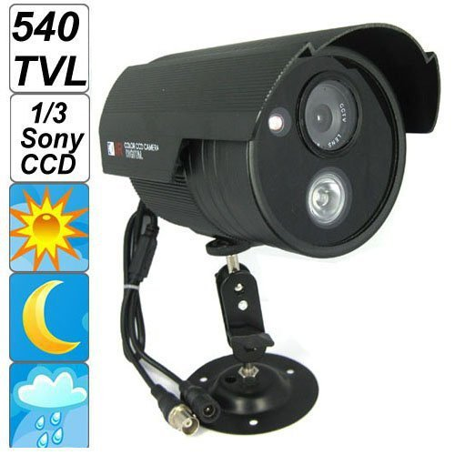 New! Waterproof 540TV Lines Sony CCD Surveillance Camera with Array IR LED