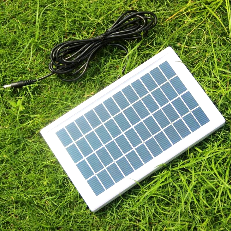 BUHESHUI 3W 6V 12V Solar Cell Polycrystalline Solar Panel DIY Solar Power System For Battery Charger <font><b>Led</b></font> Light DC 5521 Cable 3M