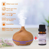 Wood Grain 300ml Air Aroma Essential Oil Aromatherapy Humidifier Ultrasonic Essential Oil Diffuser Aromatic Diffuser For