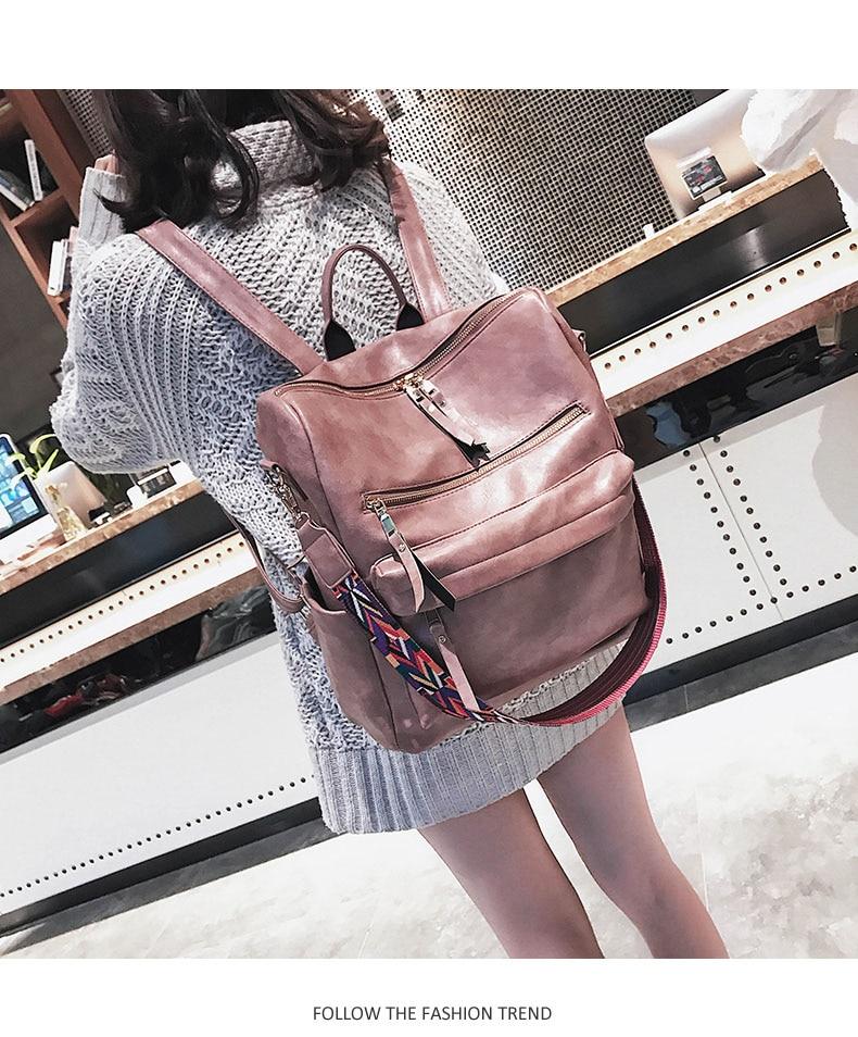 HTB1cvSpavvsK1Rjy0Fiq6zwtXXam Retro Large Backpack Women PU Leather Rucksack Women's Knapsack Travel Backpacks Shoulder School Bags Mochila Back Pack XA96H