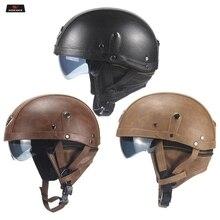 WOSAWE Motorcycle Helmet Retro Personality Removable inner liner Moto Half-