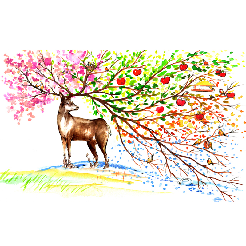 Aliexpress Painting Of Moose Colorful