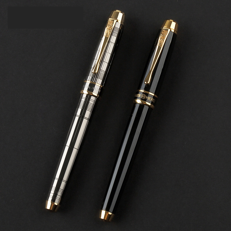 Luxury Business Office Gift Stationery Gold Clip Fountain Pen Grey Black Fine Point Ink Pens with a High-end Gift BoxLuxury Business Office Gift Stationery Gold Clip Fountain Pen Grey Black Fine Point Ink Pens with a High-end Gift Box
