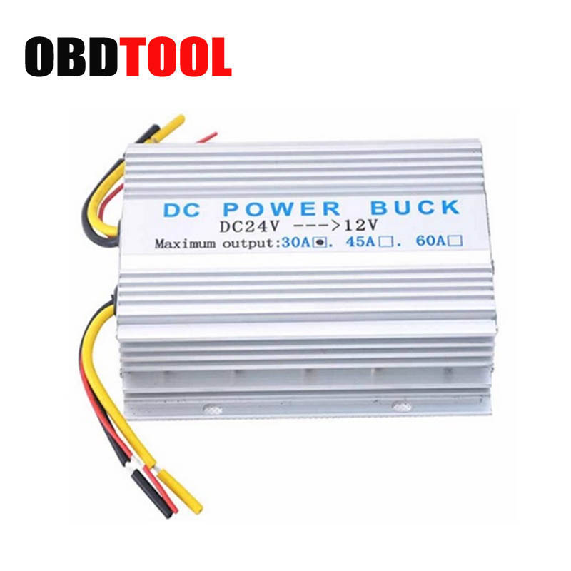 Good Aluminum Shell 24 V To 12 V Car Convertor 30A Voltage Regulator Automotive Transformer with Cooling Fan Auto Tool