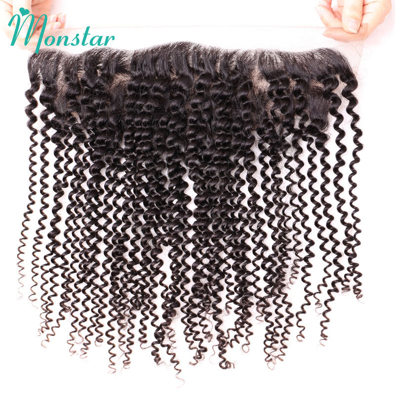 Monstar Pre Plucked Frontal 13x4 Free Part Kinky Curly Frontal Cheap Unprocessed Brazilian Remy Human Hair