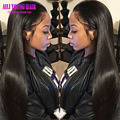 7A Full Lace Human Hair Wigs Brazilian Virgin Hair Straight Lace Front Human Hair Wigs For Black Women With Baby Hair Free Part