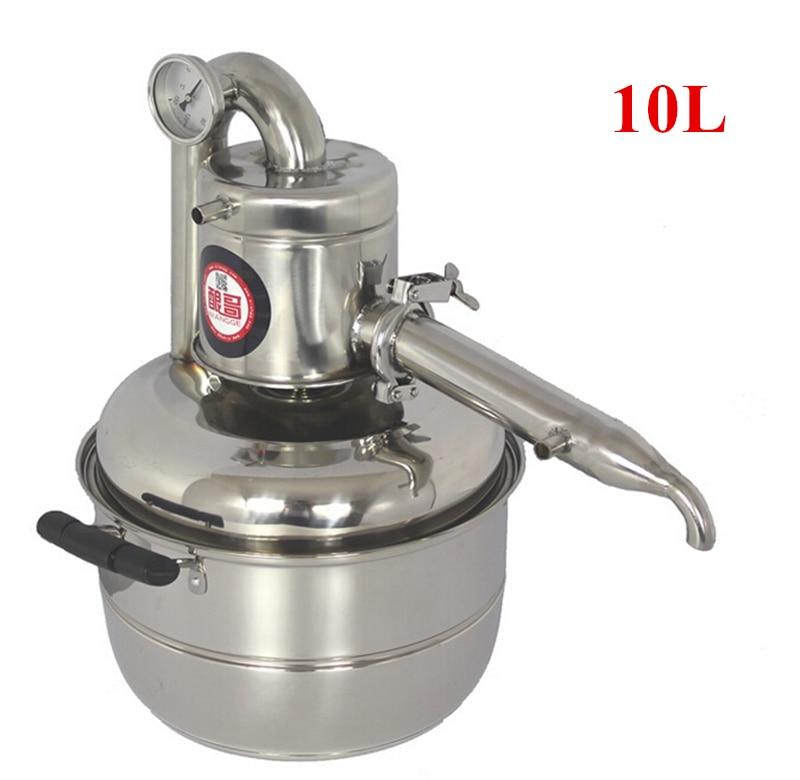 Free Shipping New Arrival 10L Water Alcohol Distiller Home Brew Kit Distiller Wine Making Essential Oil Boiler