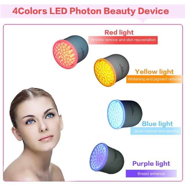 4 Color Photon Led Skin Rejuvenation Red Blue Yellow Light