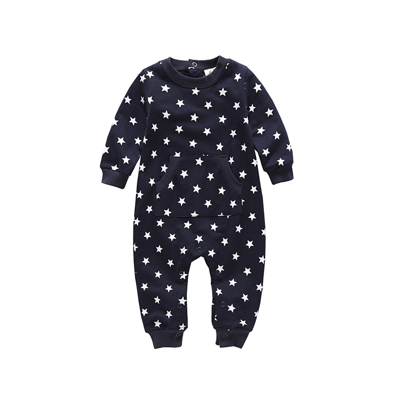 Siyubebe Newborn Baby Boys Romper 2017 Fashion Brand Cotton Long Sleeve Infant Ropa Clothing Star Baby Girl Jumpsuit Clothes new 2017 brand quality 100% cotton newborn baby boys clothing ropa bebe creepers jumpsuit short sleeve rompers baby boys clothes