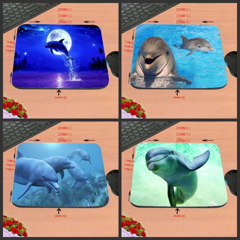 Dolphins Under The Sea Design Anti-slip Durable New Arrival  Customized Rectangular Mouse Pad Computer PC Nice Gaming As Gift