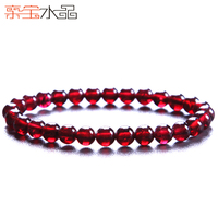 Crystal natural red garnet bracelet female fashion accessories beauty valentine's day gift transhipment