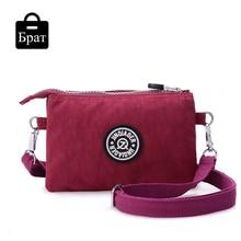 2016 clutch bag women messenger bags casual mini crossbody bag for girls waterproof nylon ladies handbags