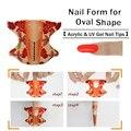 100 unids rollo Forma Oval Forma de Uñas Autoadhesivo para Acrílico/Uñas de Gel UV Consejos de Extensión de Uñas Herramienta Del Arte Del Clavo