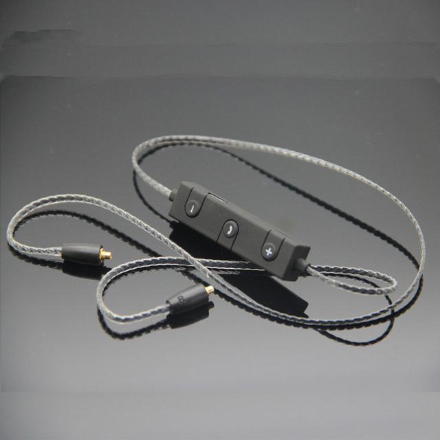 Poyatu cable para shure se215 ue900 se846 se535 se235 bluetooth inalámbrico adaptador transformar no auriculares bluetooth inalámbrica