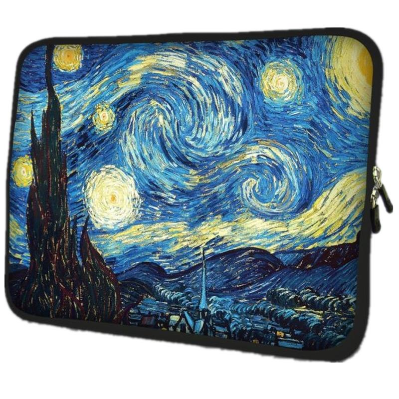 Van Gogh Village Soft Netbook Notebook Sleeve Pouzdro na pouzdro pro Apple Macbook Air / Pro Retina 10 13 13.3 15.4 15.6 17.3 17.4 inch
