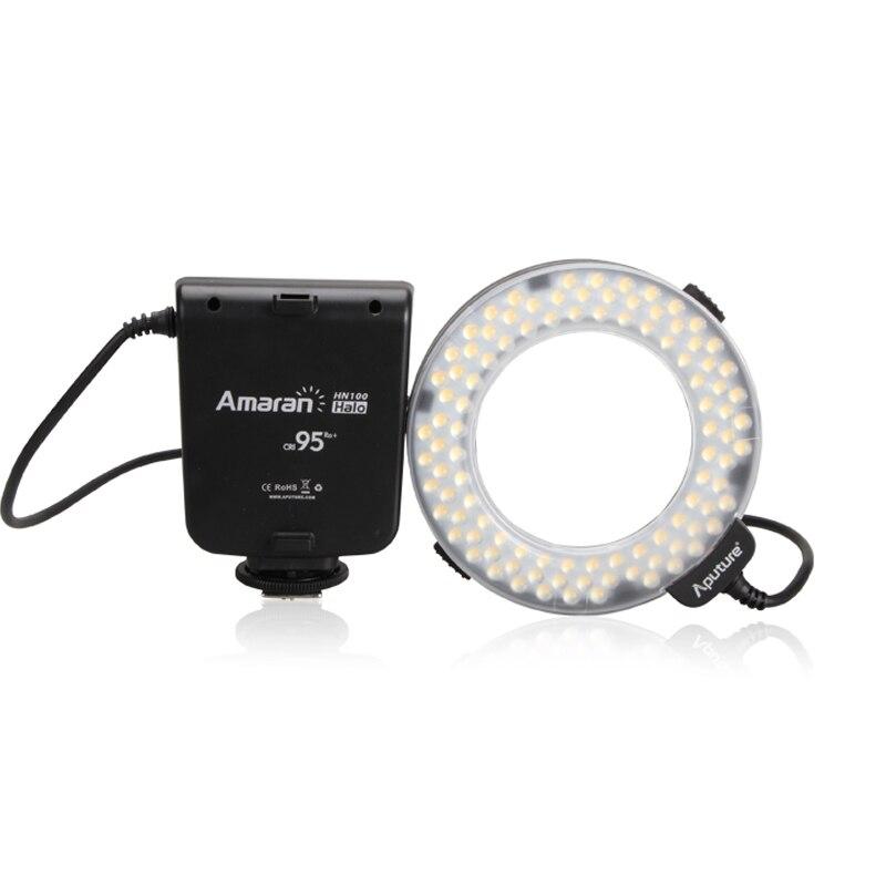 Macro Ring Flash Aputure Amaran High CRI HC100 100 Led Video Light For Canon 5D Mark