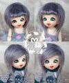 1/8 1/12 BJD Wigs Fashion smoky gray fur wig bjd sd long wig for DIY dollfie