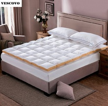 100 White Goose Down Quilted Mattress Topper With Straps Home Furniture For Five Star Hotel Fast Shipping