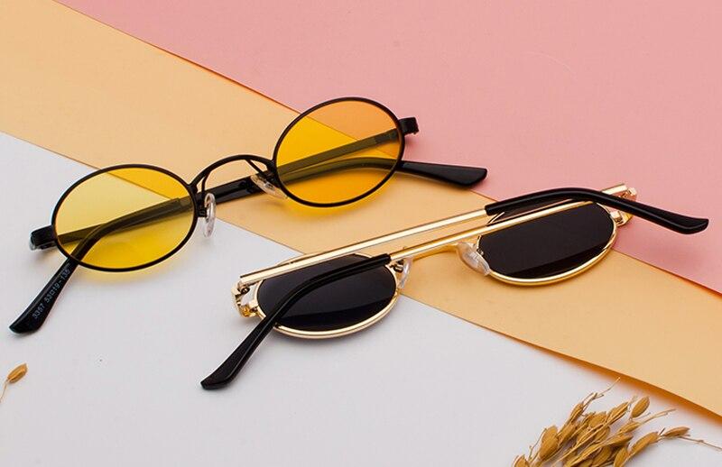 Tiny Oval Sunglasses Men detail (3)