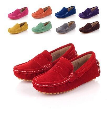 2015 sapatas das crianças, meninas sapatos, sapatos meninos, bebê sapatos de couro genuíno, Feito À Mão cores doces Casuais