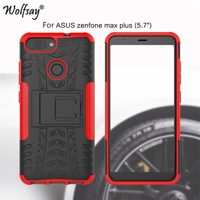 new concept 9d746 0528a US $2.7 34% OFF|Phone Case For Asus ZenFone Max Plus M1 Case X018D Luxury  Thick Silicone Hybrid Armor Cover For Asus ZenFone Max Plus M1 ZB570TL-in  ...