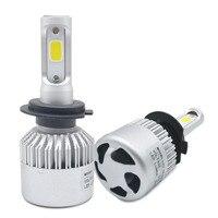 2 יחידות H4 LED H7 H13 9007 881 רכב Led פנס 72 W 8000LM Hi/Lo מכוניות קורה המכונית אור פנס ערפל הנורה פנס 6500 K