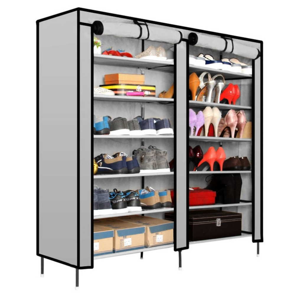Durable Shoe Rack Space Saving Storage Shelf Portable Nonwoven Fabric Home Shoes Organizer Cabinet Closet Furniture