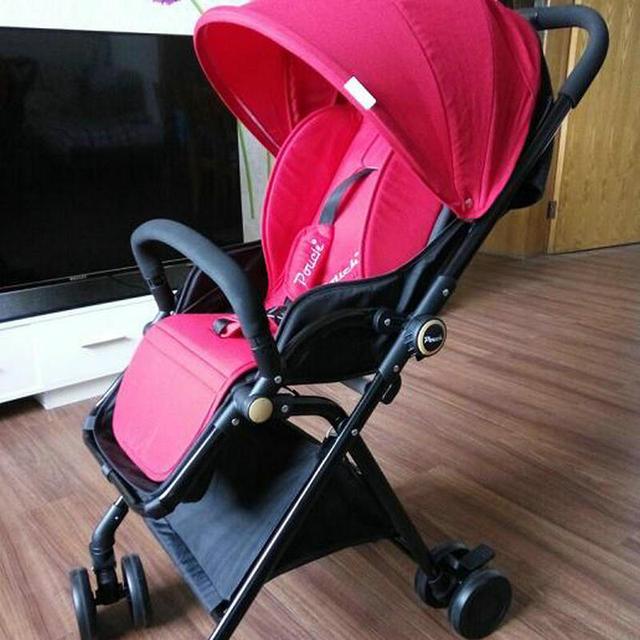 newborn baby stroller super light portable folded baby stroller high landscape child stroller can sit can lie baby stroller