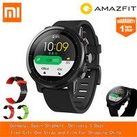 [Наличии] Xiaomi Huami AMAZFIT Stratos gps 5ATM Водонепроницаемый смарт спортивные часы 2 Международный 512 МБ/4 ГБ Smartwatch для iOS и Android