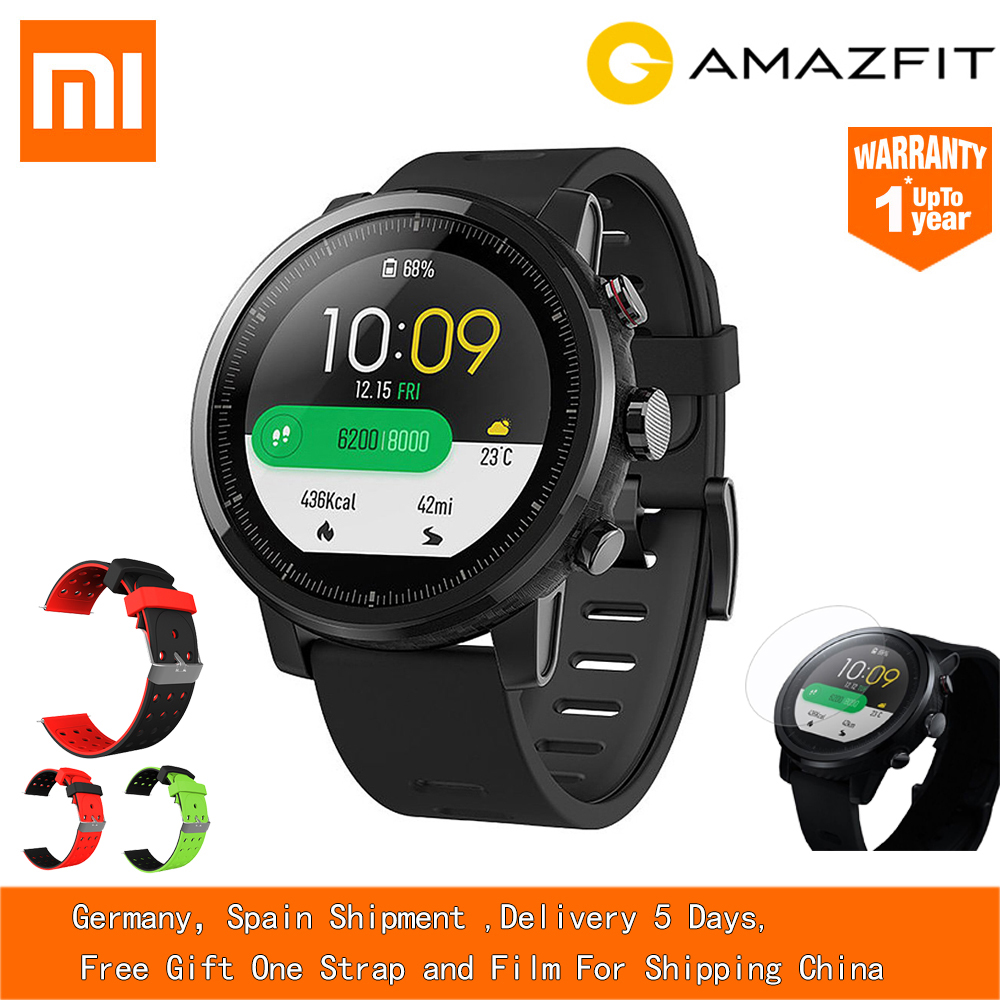 xiaomi mi huami amazfit smart watch stratos 2 english version sports smartwatch with gps ppg heart rate monitor 5atm waterproof EU Stock English Version Xiaomi HUAMI AMAZFIT Stratos GPS Smart Sports Watch 2 Version 5ATM Waterproof Touch Screen Watch Men