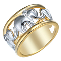 Hot Sale Animal Large size 6-12 Fashion White Gold Plated Elephant Engagement bijoux Rings Fine Jewelry For Men Wedding