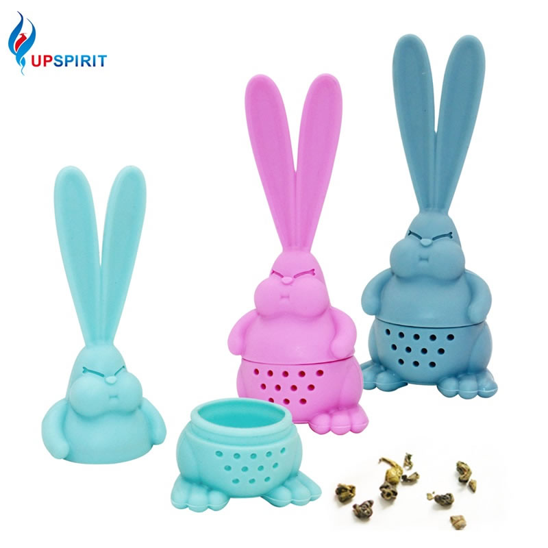 Upspirit Silicone Rabbit Tea Strainer For Mugs And Teapots Reusable Leaf Filter For Loose Leaf Leaves Mesh Ball Tea Infuser