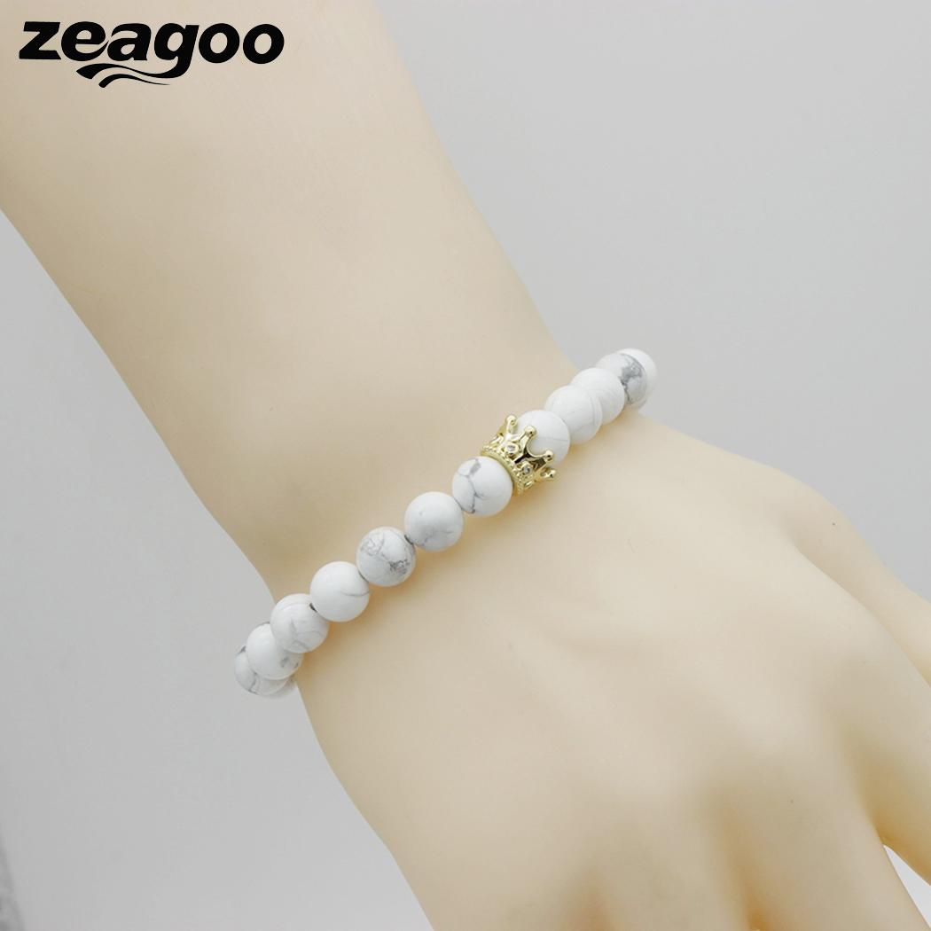 Crown Elastic Unisex Bracelet Bead Geometric Casual Shape