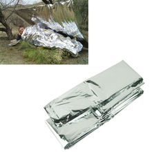 Silver Thin Emergency Blanket Survival Rescue Curtain Outdoor Life-saving SEP 20