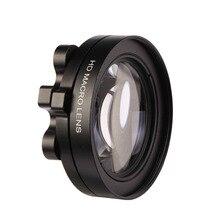 CAENBOO Hành Động Máy Ảnh Ống Kính Lọc Go Pro Hero 5 3 Close lên Thông Tư Lọc Cho GoPro Hero5 Macro Magnifier Adapter Ring Đen