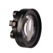 Caenbooアクションカメラレンズフィルター行くプロヒーロー5 3近いアップ円形フィルター用のgopro Hero5マクロ拡大鏡アダプターリングブラック
