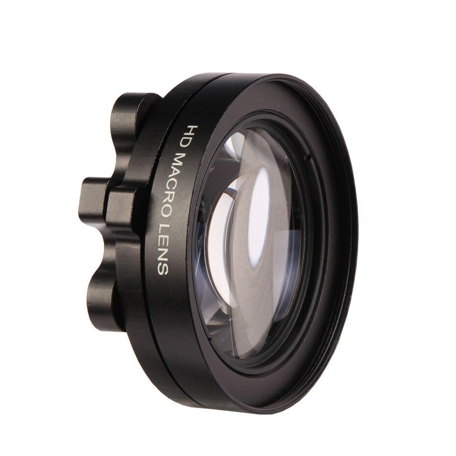 Caenboo acción Objetivos para cámaras Filtros Go Pro Hero 5 3 close up filtro circular para gopro hero5 macro lupa anillo adaptador negro